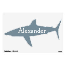 Shark Personalized Wall Decal for Boys