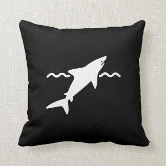 Shark Pictogram Throw Pillow