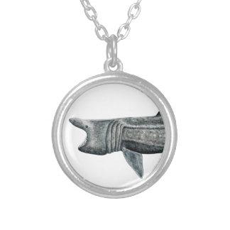 Shark pilgrim silver plated necklace