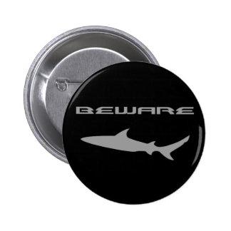 Shark Pinback Button
