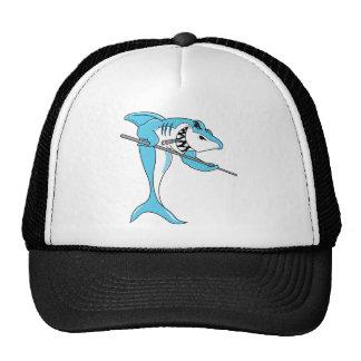 Shark Playing Billiards Trucker Hat