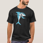Shark Playing Billiards T-Shirt