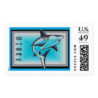 Shark Postage Stamps