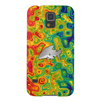 Shark psychedelic rainbow galaxy s5 covers