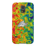 Shark psychedelic rainbow galaxy s5 cover