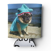 Shark Pug Can Cooler