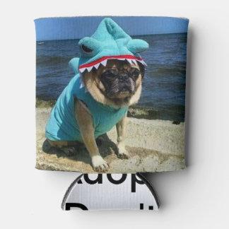 Shark Pug Can Cooler