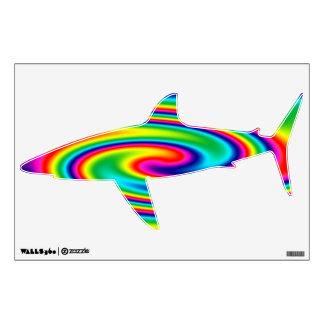 Shark Rainbow Twirl Wall Decal