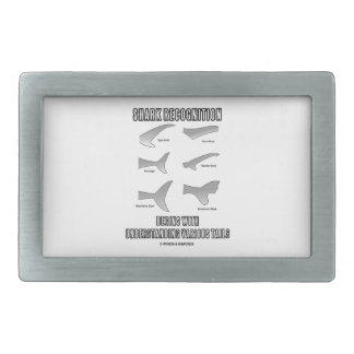 Shark Recognition Begins Understanding Tails Rectangular Belt Buckle