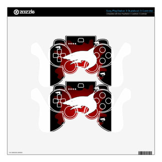 SHARK RED  BACKGROUND PRODUCTS PS3 CONTROLLER DECALS