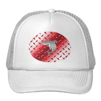 Shark red diamond plate steel pattern hat