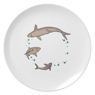 Shark Ring Melamine Plate