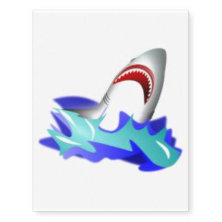 Shark Rise Large Temporary Tattoo