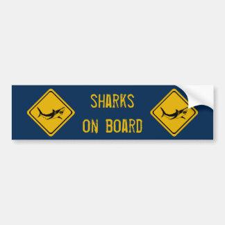 shark road sign bumper sticker