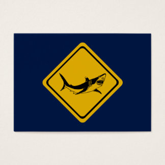 shark road sign business card