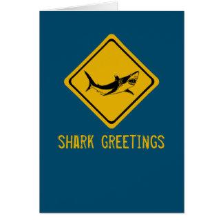 shark road sign greeting card