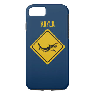 shark road sign iPhone 7 case