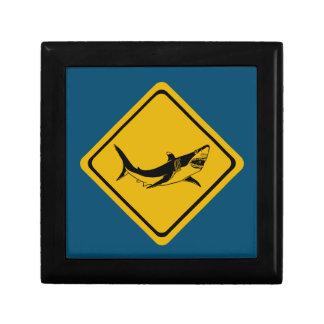 shark road sign jewelry box