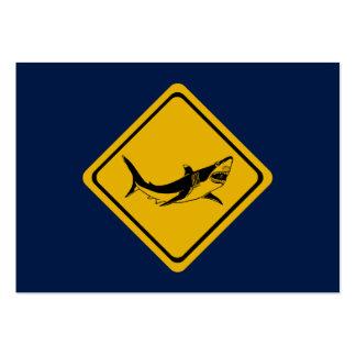 shark road sign large business card