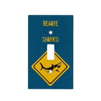 shark road sign light switch cover
