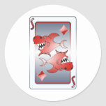 Shark Round Stickers