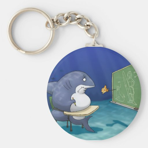 Shark School Keychain