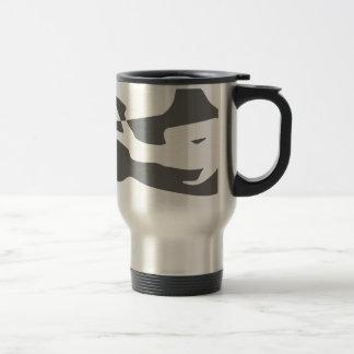 shark scuba diver diving hai tauchen travel mug