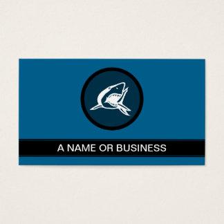 shark sea blue bubble business card