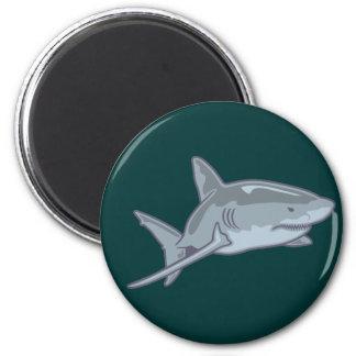 Shark shark 2 inch round magnet
