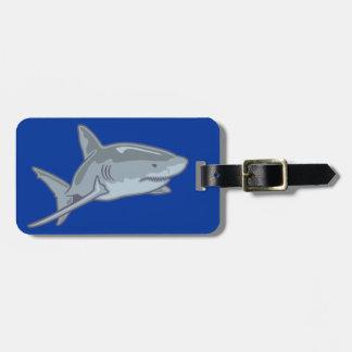 Shark shark luggage tag