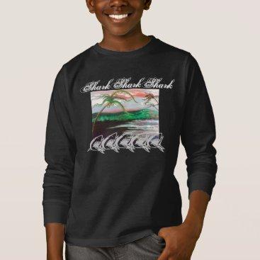 Beach Themed Shark Shark Shark T-Shirt