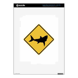 Shark Sign Decal For iPad 3