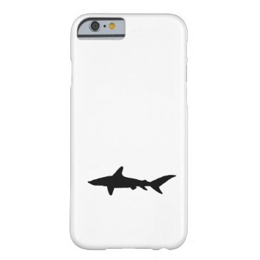 Beach Themed Shark Silhouette Barely There iPhone 6 Case