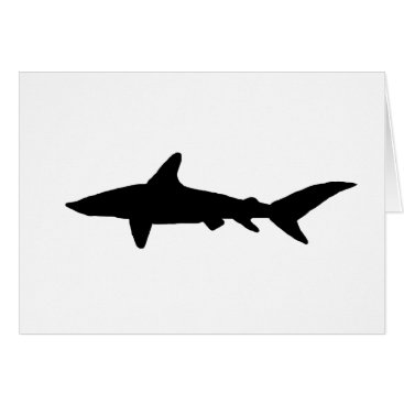 Beach Themed Shark Silhouette Card