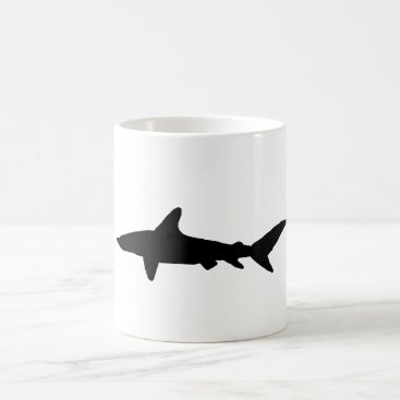 Beach Themed Shark Silhouette Coffee Mug