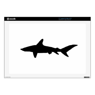 Beach Themed Shark Silhouette Laptop Decals