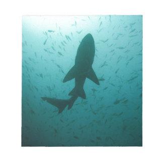 Shark Silhouette Notepad