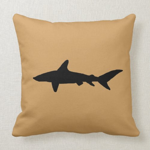 Shark Silhouette Pillow