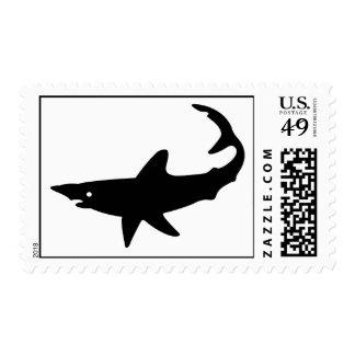 Shark Silhouette Postage Stamp