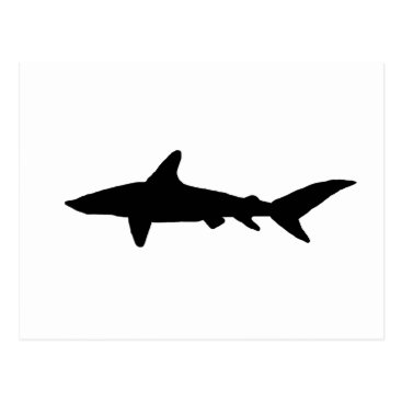 Beach Themed Shark Silhouette Postcard
