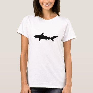 Beach Themed Shark Silhouette T-Shirt