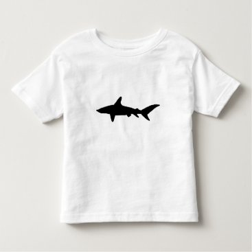 Beach Themed Shark Silhouette Toddler T-shirt