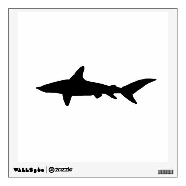 Beach Themed Shark Silhouette Wall Sticker