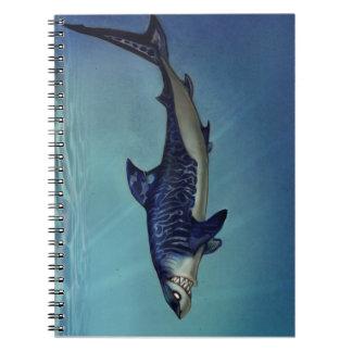 Shark sketchbook spiral notebook