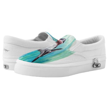Beach Themed Shark Slip Ons