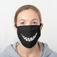 Shark Smile Black Cotton Face Mask