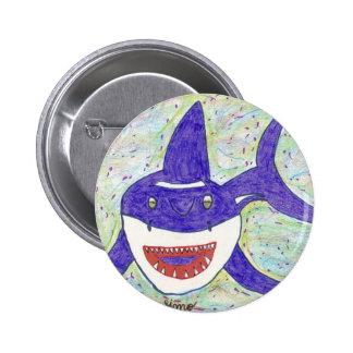 Shark Species 2 Inch Round Button