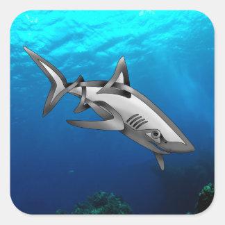 Shark Square Sticker