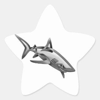 Shark Star Sticker
