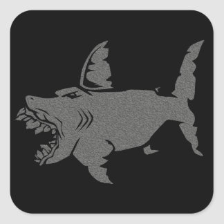 Shark Square Stickers